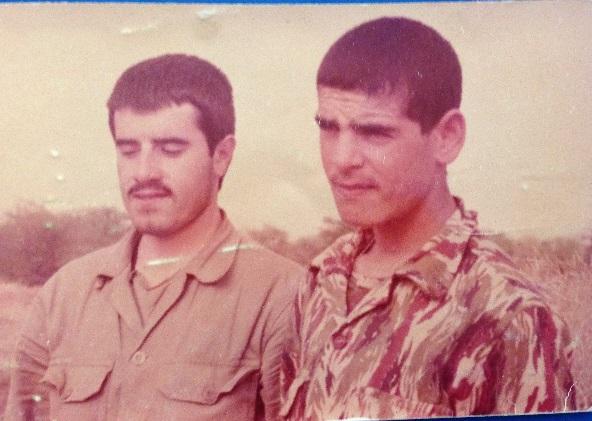 شهید سید محسن مصطفوی و شهید محمود بیاریان در کنار هم